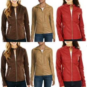 Faux Leather Scuba Jacket Just $22.99! Down From $100!