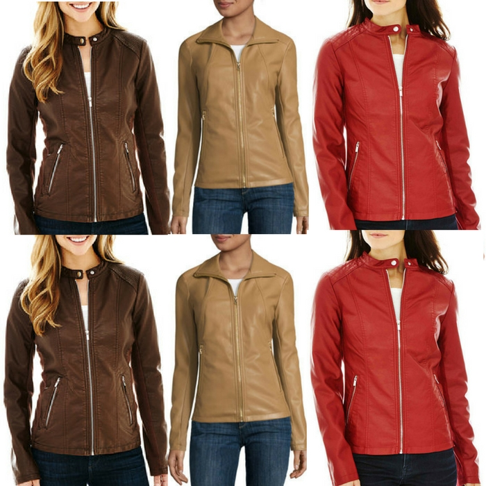 Faux Leather Scuba Jacket Just $22.49! Down From $100!