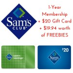 Sam's Club Membership: $45 PLUS FREE $20 Gift Card PLUS $19.94 In FREEBIES!