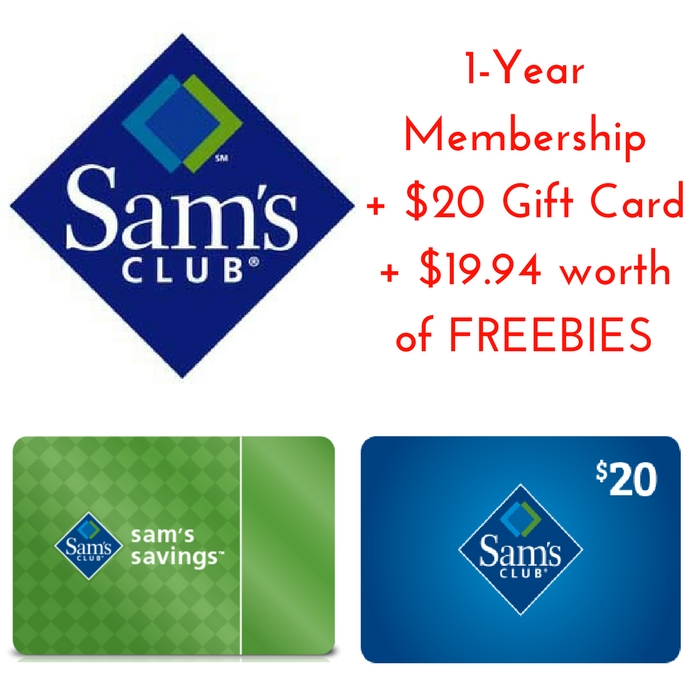 Sam's Club Membership: $45 PLUS FREE $20 Gift Card PLUS $19.94 In FREEBIES!