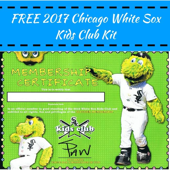 FREE 2017 Chicago White Sox Kids Club Kit!