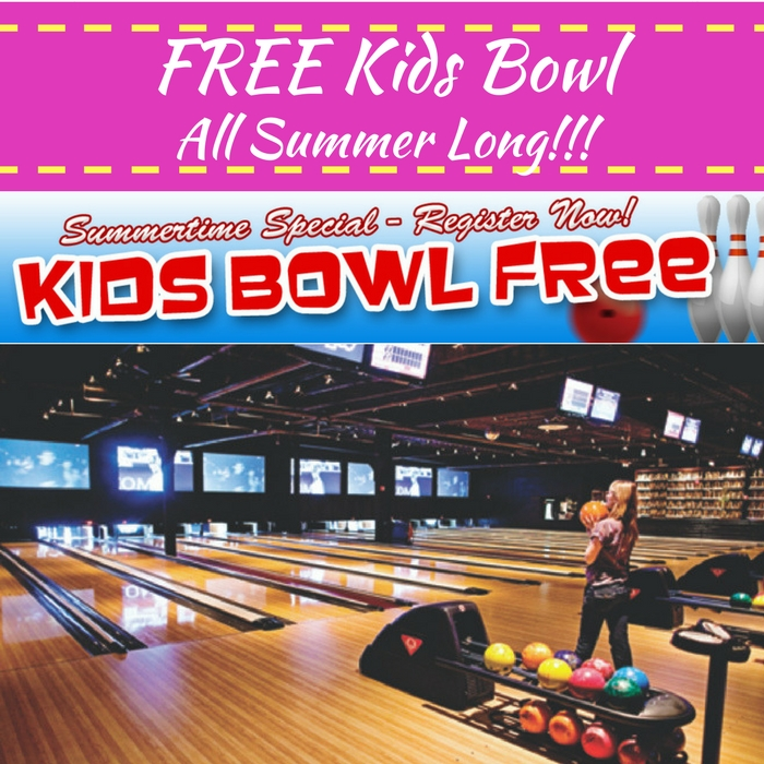 FREE Bowling For Kids ALL Summer!