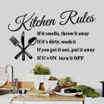 Kitchen Rules Wall Decal Just $2.40! PLUS FREE Shipping!