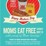 FREE Chili Dog, Fries & Soda For Moms! May 14 Only!