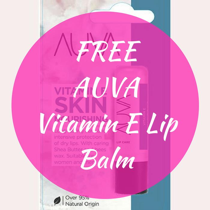 FREE AUVA Vitamin E Lip Balm!