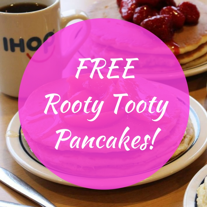 FREE Rooty Tooty Pancakes!