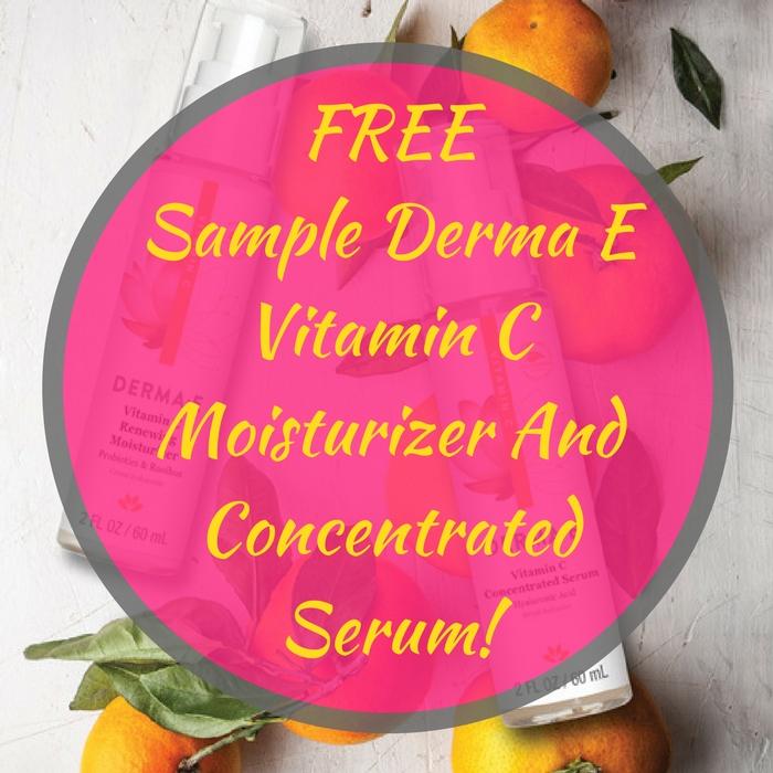 FREE Sample Derma E Vitamin C Moisturizer And Concentrated Serum!