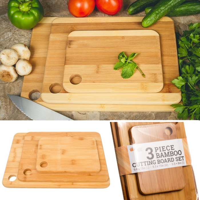 3-Piece Bamboo Cutting Board Set Just $10.99! Down From $50!