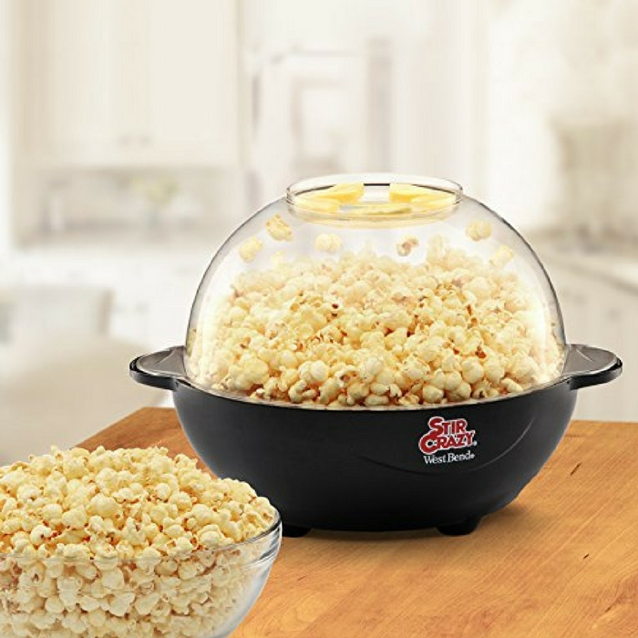 Stir Crazy 6-Quart Electric Popcorn Popper Just $14.73! Down From $46!
