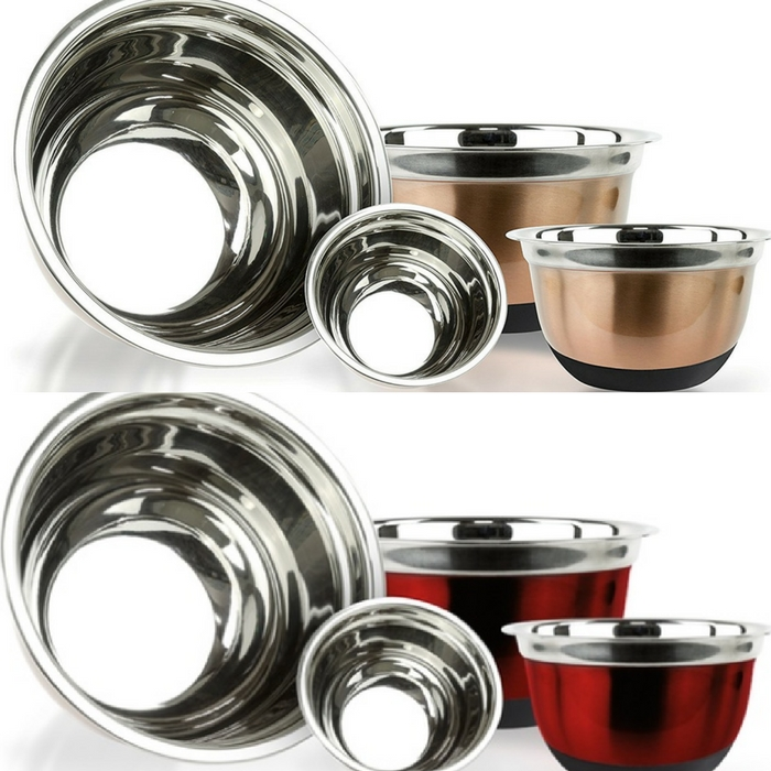 Stainless Steel German Mixing Bowls Set Of 4 Just $14.99! Down From $60!
