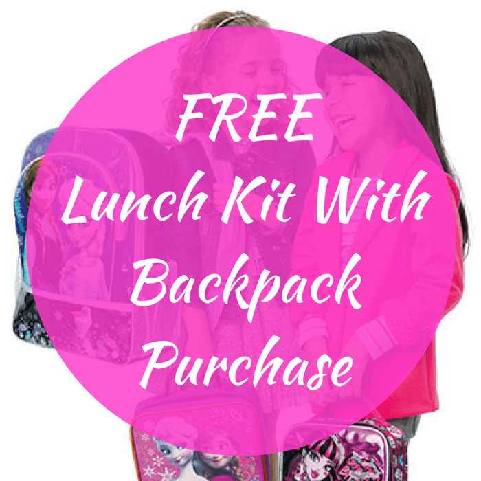 FREE Lunch Kit With Backpack Purchase!