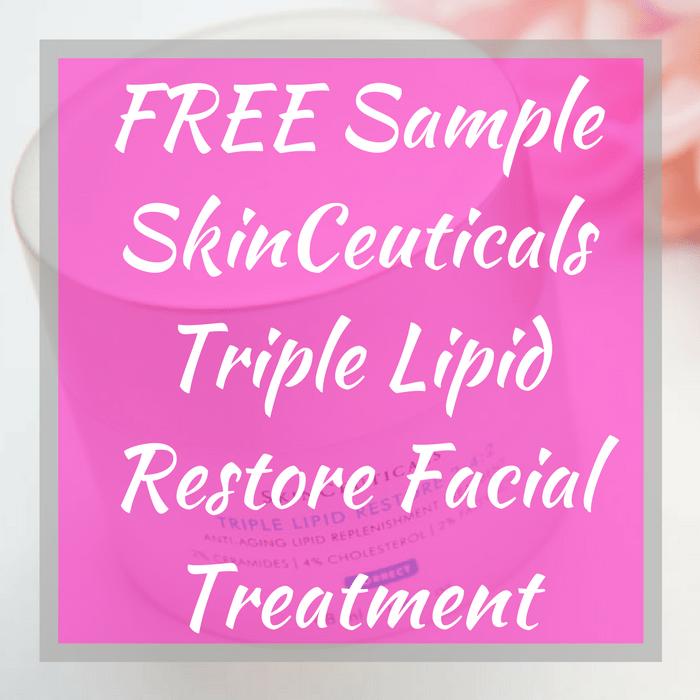 FREE Sample SkinCeuticals Triple Lipid Restore Facial Treatment!