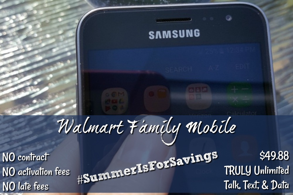 The Walmart Family Mobile plan is so flexible and so cost effective it's just the perfect plan!  There is NO contract, NO activation fees, NO late fees, it's super easy to switch and start, AND it's Powered by T-Mobile's nationwide 4G LTE network!