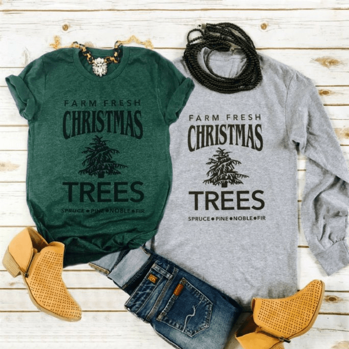Farm Fresh Trees Holiday Tees Just $14.99! Down From $28!