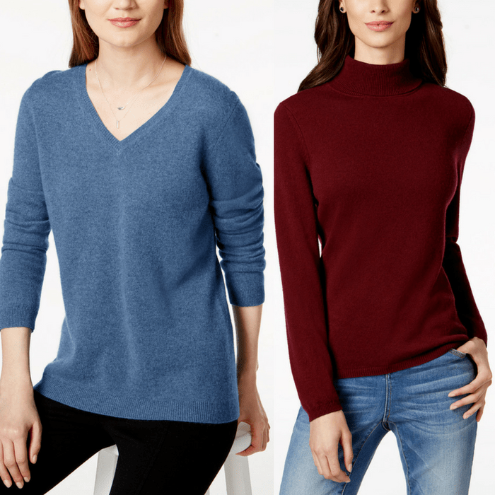 Charter Club Cashmere Sweaters Just $39.99! Down From $139!