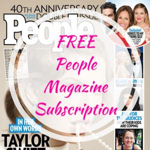 FREE People Magazine Subscription!
