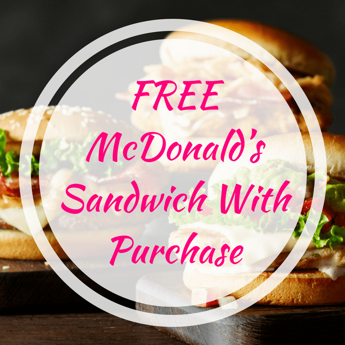 FREE Breakfast Sandwich With McCafe Purchase At McDonald's!