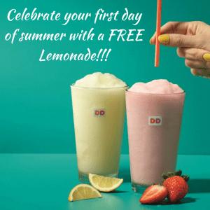 FREE Frozen Lemonade Sample At Dunkin' Donuts!