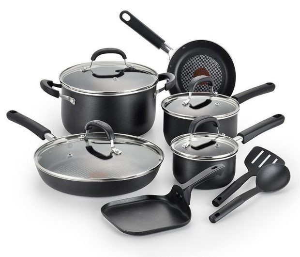 T-Fal OptiCook 12-pc. Nonstick Cookware Set Only $64.99! (Reg. $180!)