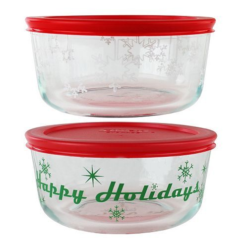 Pyrex 4-pc. Holiday Food Storage Set Just $5.09 At Kohl's!