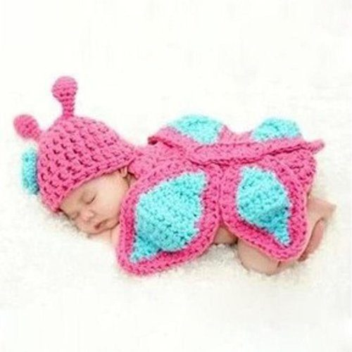 Lovely Butterfly Knit Crochet Photo Prop Only $4.05 With FREE Shipping!