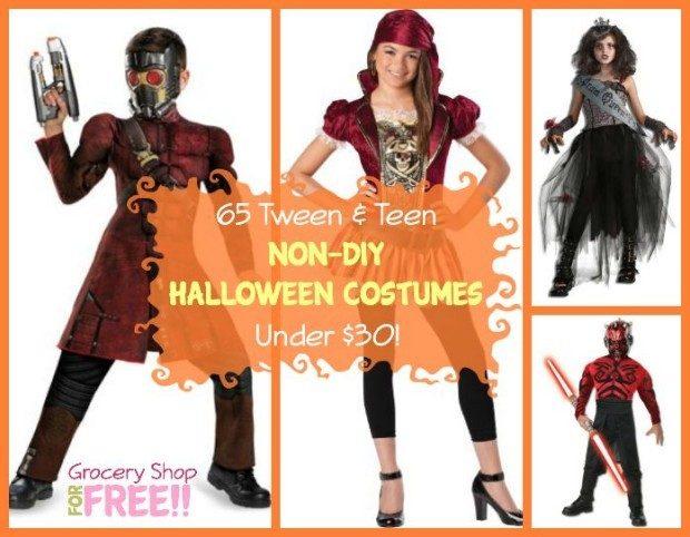 65 Tween & Teen Non-DIY Halloween Costumes Under $30!