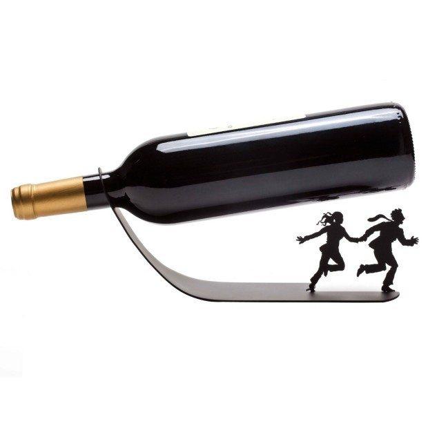 """Wine Bottle Holder """"Wine For Your Life"""" Black Metal Designed Rack Stand Only $14.99 (Reg. $224 ??)!"""