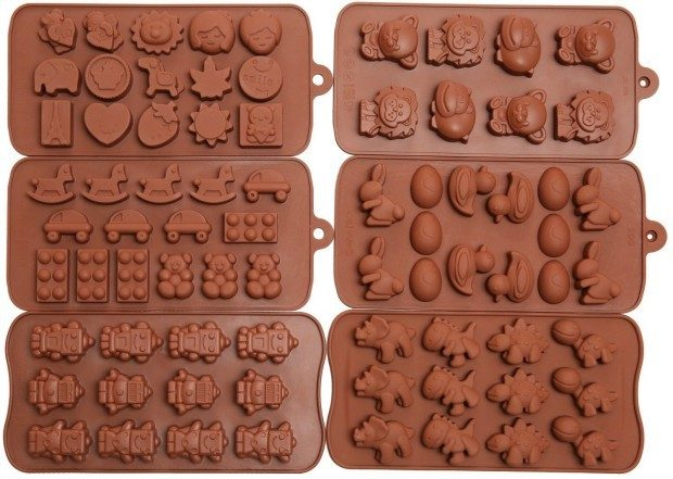 6 Pcs Set Kids Toys, Robots, Animals, And More Silicone Molds Only $11.95 (Reg. $29.99)!
