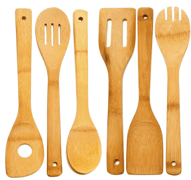 Huji® 6 Piece Bamboo Wooden Kitchen Cooking Utensils Only $6.99!