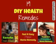 19 DIY Health Remedies