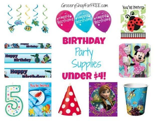 Birthday Party Supplies Under $4
