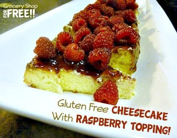 Cheesecake With Raspberry Topping - Gluten Free!