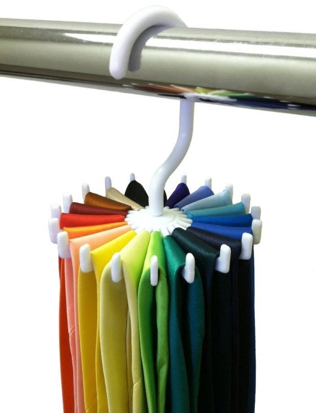 Twirling Tie Rack $1.63 + FREE Shipping! (Great for Belts and Scarves, too!)