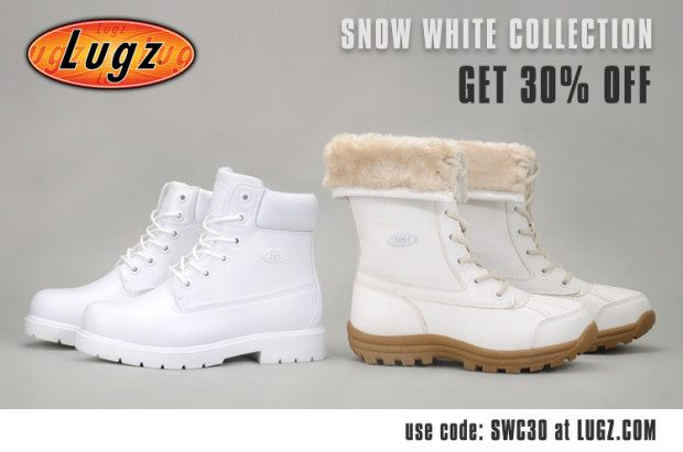 """Lugz Introduces """"Snow White"""" Collection With 30% Off!"""
