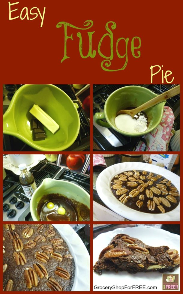 Easy Fudge Pie Recipe!