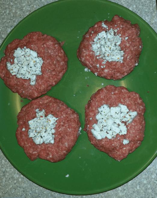 Feta Stuffed Greek Burgers On The Grill With Tzatziki Sauce Recipe!