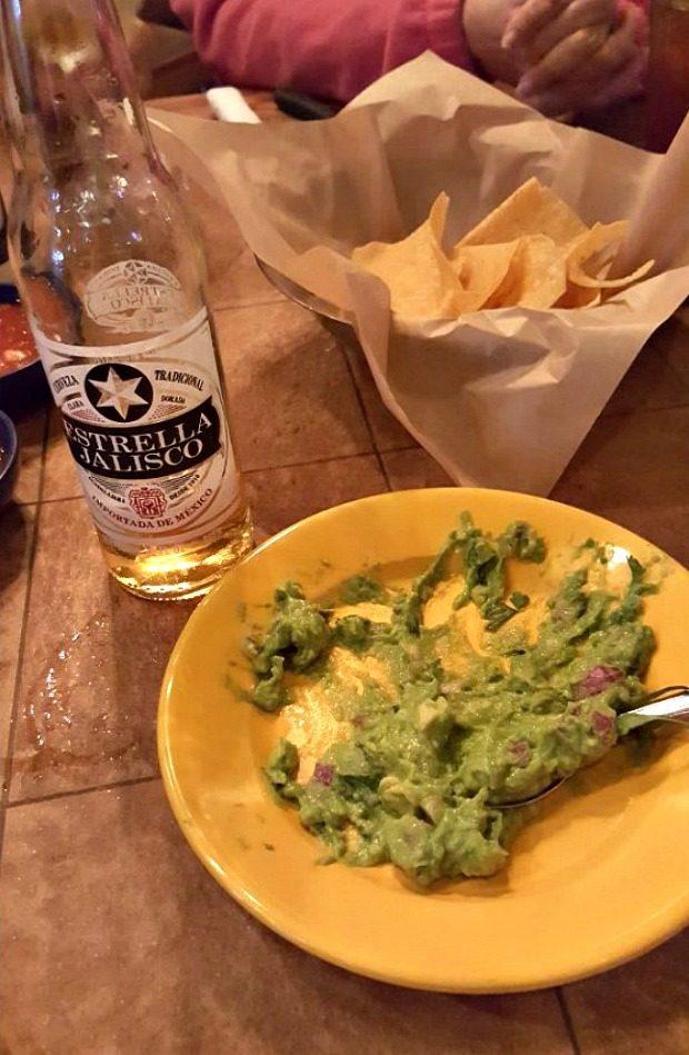 Guacamole Chips & Beer