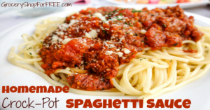 Slow Cooker Spaghetti Sauce From Scratch!