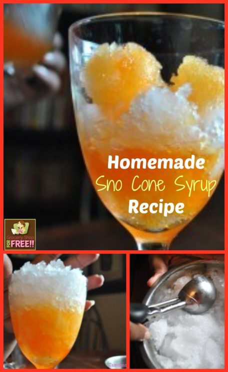Homemade Shaved Ice Or Sno Cone Syrup Recipe
