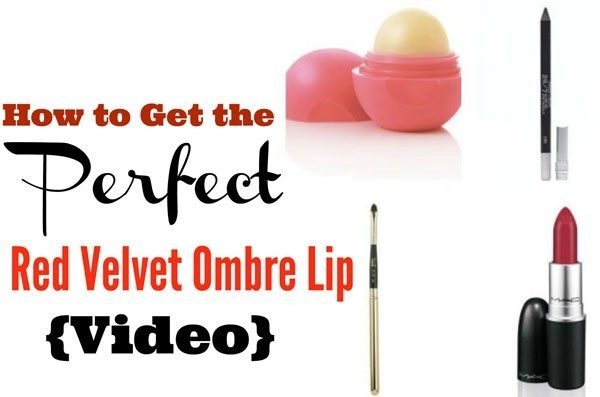 How To Get The Perfect Easy Red Velvet Ombre Lip