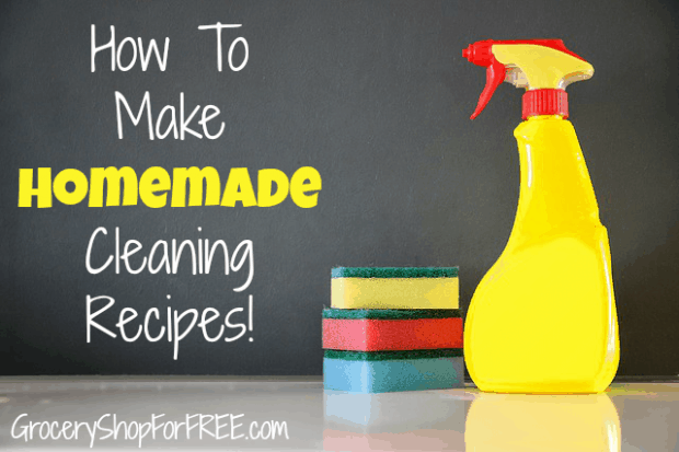 How To Make Homemade Cleaning Recipes!  Includes Homemade Dishwasher Detergent!