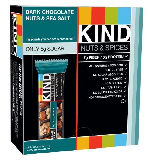 KIND Nuts & Spices, Dark Chocolate Nuts & Sea Salt 12 Ct Only $13.51!