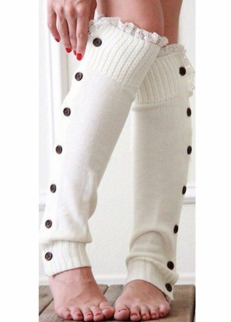 Knit Lace Trim Leg Warmers Just $4.69! Ships FREE!
