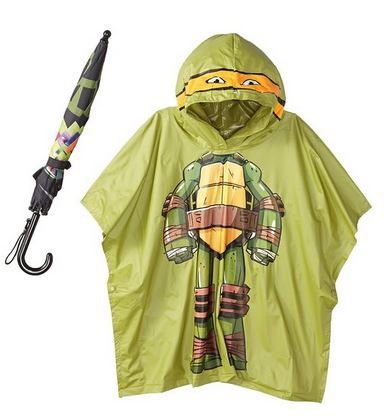 Little Boy's Teenage Ninja Turtles Michaelangelo Rain Poncho and Umbrella Set Just $8.41!