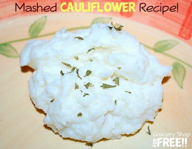 Mashed Cauliflower Recipe!