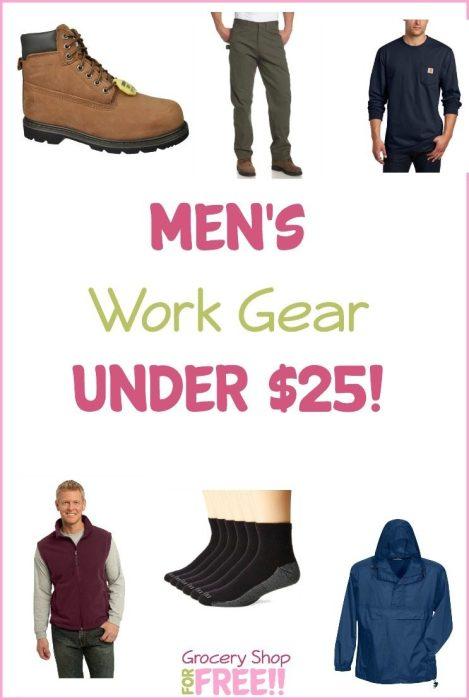 Men's Work Gear Under $25!