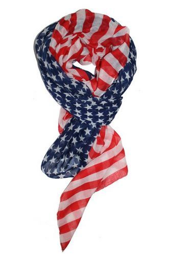 Patriotic American Flag Scarf Just $3.33 + FREE Shipping!