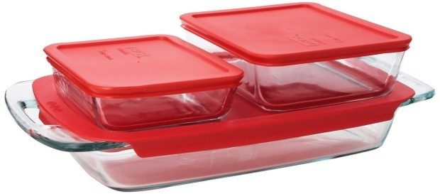 Pyrex Easy Grab 6-Piece Glass Bakeware and Food Storage Set Just $13.59!