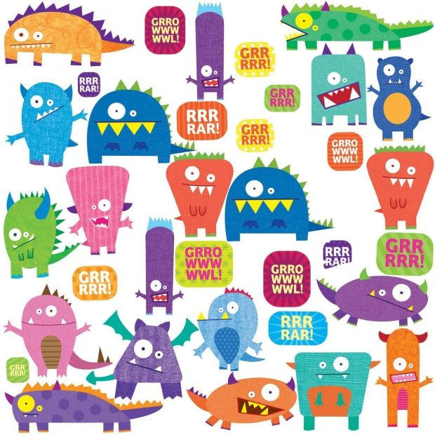 Price Drop! RoomMates Monsters Peel & Stick Wall Decals Now $9.50!