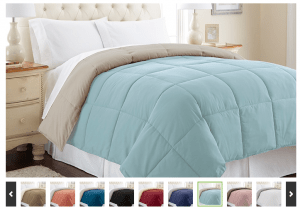 Reversible Down-Alternative Comforter; Multiple Sizes from $24.99